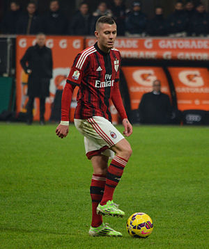 Jérémy Ménez - Ménez with Milan in 2015.