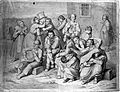 Mentally ill patients in the garden of an asylum, a warden l Wellcome L0014220.jpg