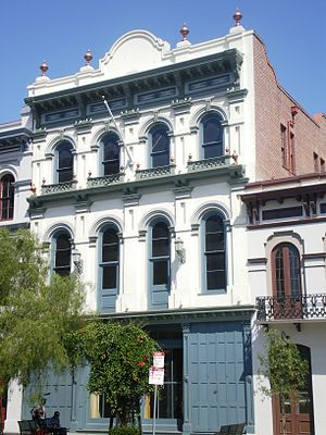 Ezra F. Kysor - Merced Theatre, Los Angeles, CA. 1870.