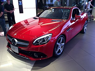 Mercedes-Benz SLK-Class - Image: Mercedes Benz SLC180 Sports (R172) front