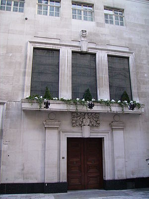 Worshipful Company of Mercers - Mercers' Hall in Ironmonger Lane