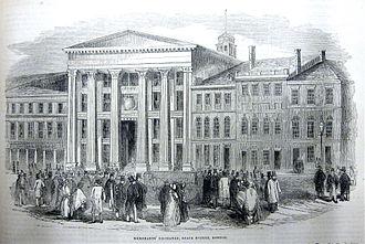 Merchants Exchange (Boston, Massachusetts) - Merchant's Exchange, Boston, 1852
