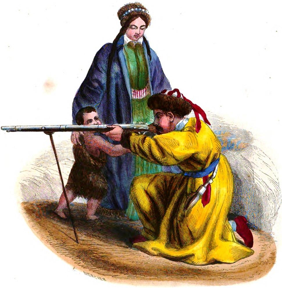 Mercier. Famille Tartare (Asie). Auguste Wahlen. Moeurs, usages et costumes de tous les peuples du monde. 1843