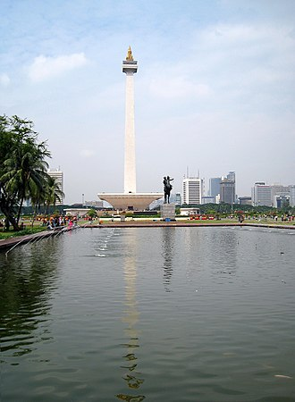 Merdeka Square, Jakarta - Image: Merdeka Square Reflecting Pool