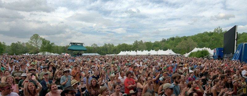 MerleFest Crowd during Avett Brothers Performance by Jacob Caudill