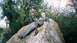Estatua de Oscar Wilde en el Merrion Park de Dublín (Irlanda).
