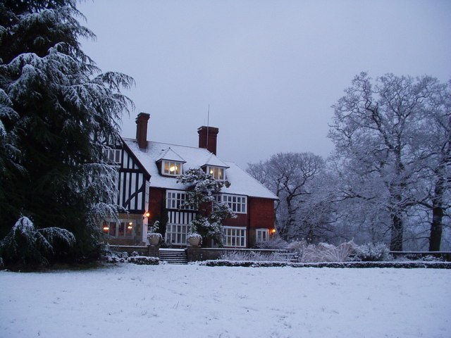 Merrist Wood College Winter Scene - geograph.org.uk - 340401
