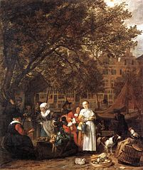 The Vegetable Market in Amsterdam