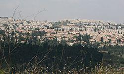 Vue de Mevaseret de Rekhes Halilim