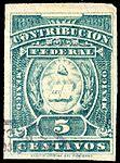 Mexico 1895-1896 revenue federal contribution 120 blue green.jpg