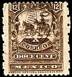 Mexico 1896-97 12c perf 12x6 Sc262a used.jpg