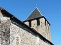 Mialet (Dordogne) église clocher.JPG