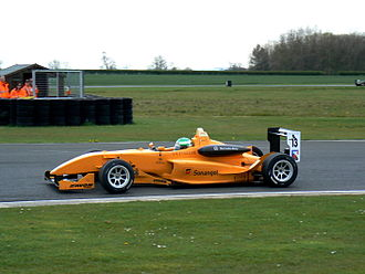 Michael Devaney (racing driver) - Devaney driving for Ultimate Motorsport at the Croft round of the 2008 British Formula Three season.