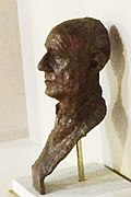Bronze bust of Michael Hordern