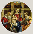 Michelangelo di Pietro Membrini - Madonna and Child with a Male Saint, Catherine of Alexandria and a Donor - 68.PB.4 - J. Paul Getty Museum.jpg