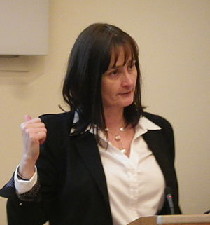 Michele Dougherty - Michele Dougherty addressing the April 2015 meeting of the Royal Astronomical Society