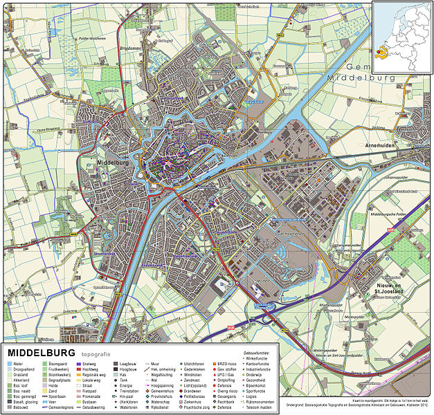 Topographic map image of Middelburg, 2011. Click to enlarge.