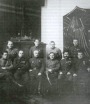 Ivan Belov (commander) - Members of Military Revolutionary Council of the USSR, Belov is 2nd from right in the back row.