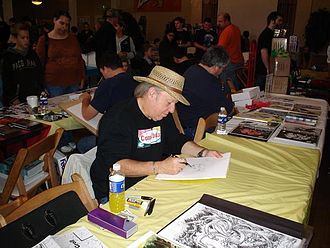 Mike Grell - Grell sketching at Bell Con 2007 in Bellingham, Washington