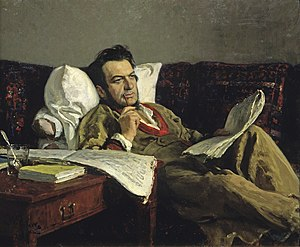 Mikhail Glinka - Ilya Repin's portrait of Glinka was painted thirty years after the composer's death