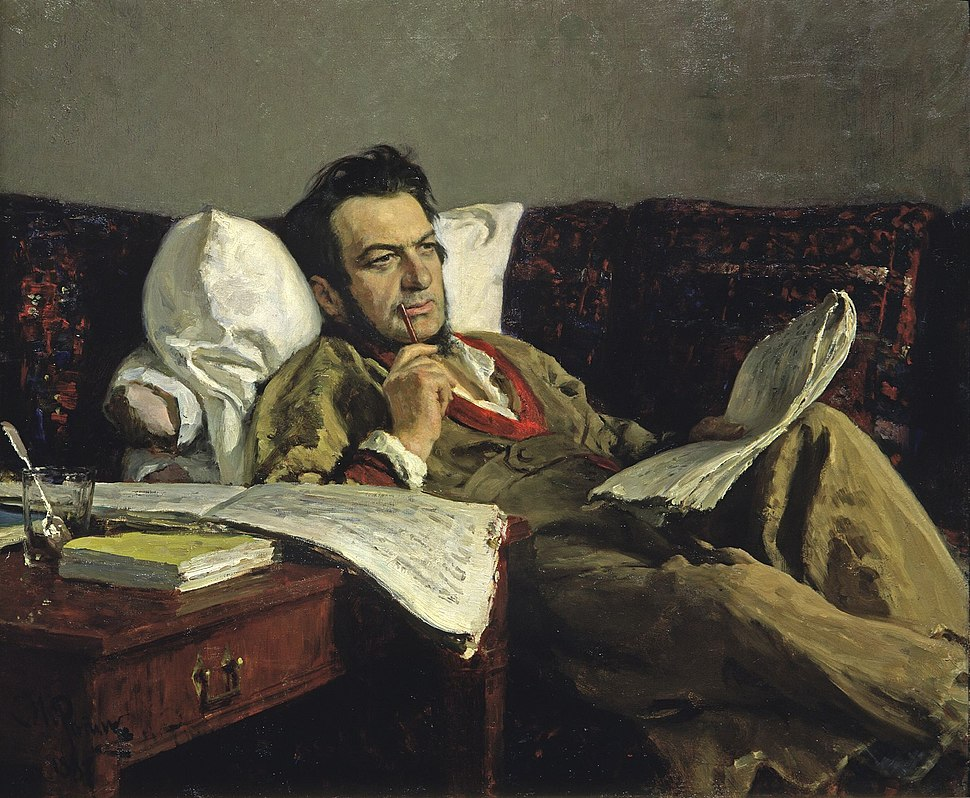 Mikhail Glinka by Ilya Repin
