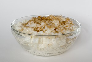 Rice pudding with cinnamon and sugar