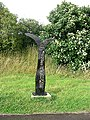 Millennium milepost on NCN4 west of the Severn Bridge - geograph.org.uk - 1409744.jpg