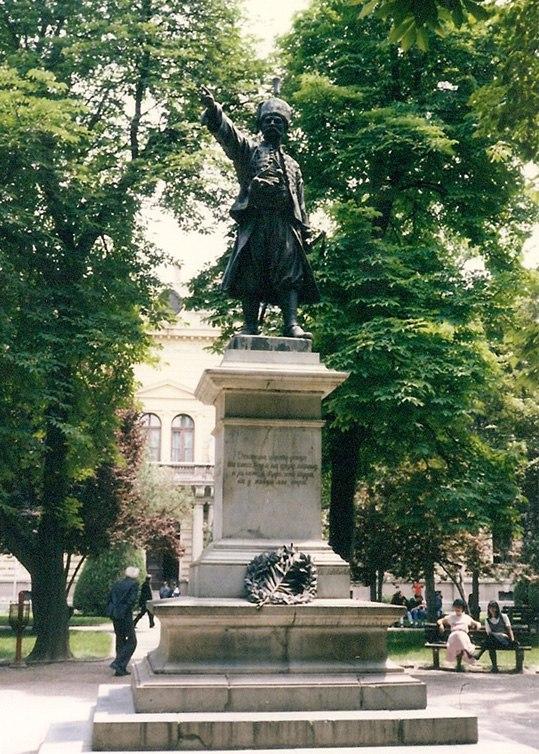 Miloš Obrenović statue in Požarevac, Serbia