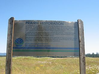 Mima mounds - DNR sign at Mima Mounds Natural Area Preserve near Olympia