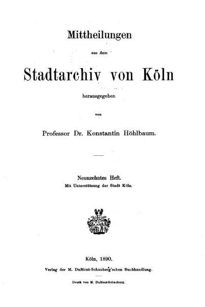 File:Mitteilungen aus dem Stadtarchiv von Köln 1890-19.djvu