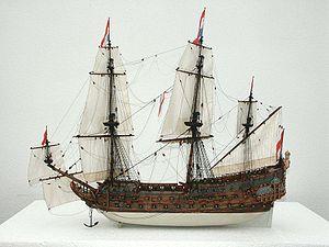 Dutch ship De Zeven Provinciën (1665) - Image: Model Zeven Provincien