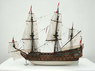 Dutch ship De Zeven Provinciën (1665) - Image: Model Zeven Provincien