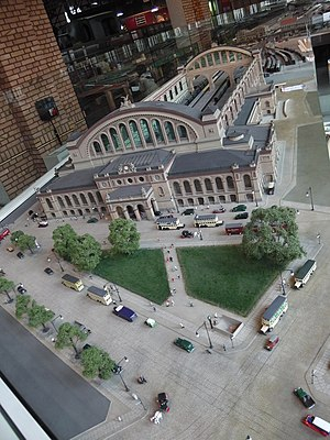 Berlin Anhalter Bahnhof - Model of a previous structure of the Anhalter Bahnhof