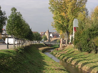 Moder (river) - The Moder at Haguenau