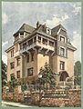 Moderne Villen in Meisteraquarellen Serie II Tafel 038 Wiesbaden Villa Dambachtal 18.JPG