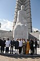 Mohd. Hamid Ansari at the wreath laying ceremony, at Jose Martin (Father of the Nation) Monument, in Havana, Cuba. The Minister of State for Human Resource Development, Shri Jitin Prasada and other dignitaries are also seen.jpg