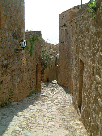 Monemvasia - Street of Monemvasia.