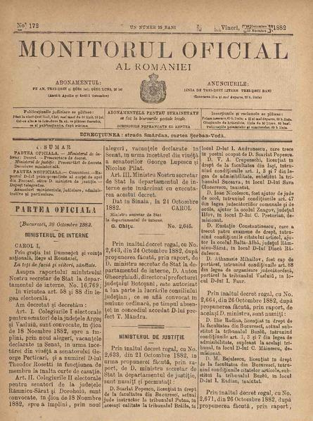 File:Monitorul Oficial al României 1882-10-29, nr. 172.pdf