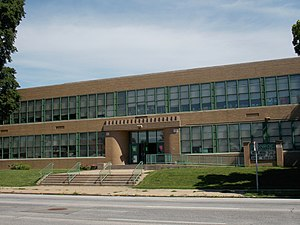 Monroe Elementary School (Davenport, Iowa) - Image: Monroe School Davenport, Iowa