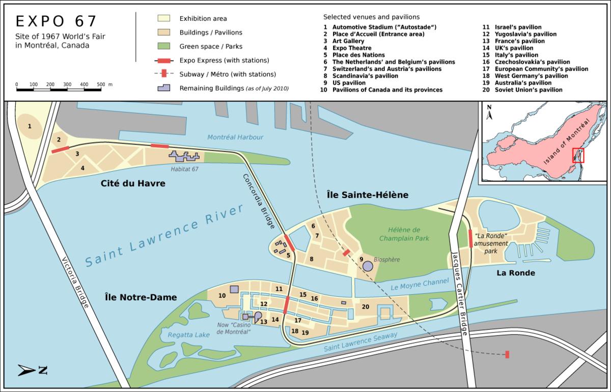 Expo 67 pavilions wikipedia for Site de location