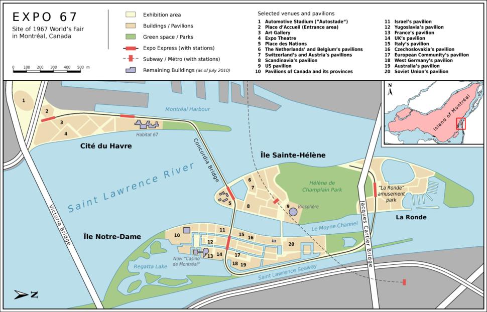 Montr%C3%A9al Expo 67 Site Map