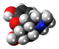 Morphine molecule spacefill.png