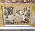 Mosaico con bellerofonte e la chimera, da rodi sud, 300-270 ac. ca. 03 chimera.JPG