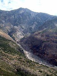 Mount Çikë in the south