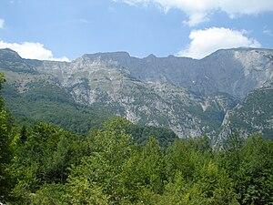 Jakupica - Landscape of Jakupica, Solunska Glava at far right