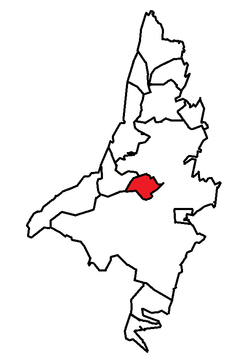 Location of Mount Pearl