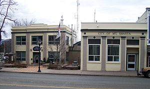 Mount Shasta, California - Mount Shasta Police Department and City Hall