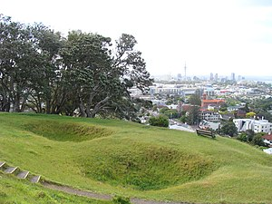 Mount Hobson (Auckland) - Image: Mount hobson Auckland kumara pits