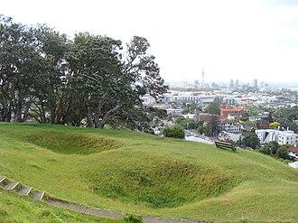 Mount Hobson (Auckland) - Image: Mount hobson Auckland kumara pits