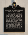 Mouseleo de los Veteranos de la Revolucion NHCP Historical Marker.png